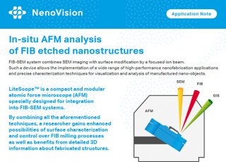 New application note! In-situ AFM analysis of FIB etched nanostructures