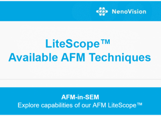 Find out what AFM techniques you can perform with our LiteScope